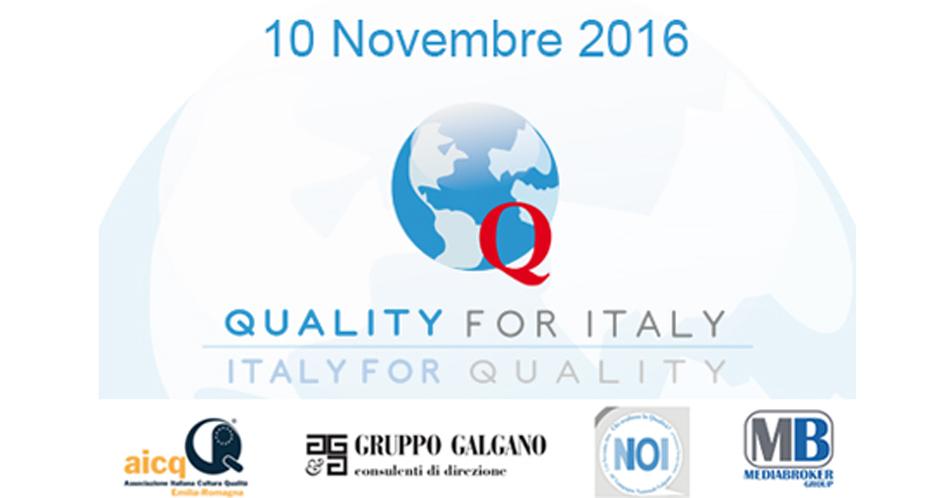 Quality for Italy – Italy for Quality | Scopri il programma dettagliato